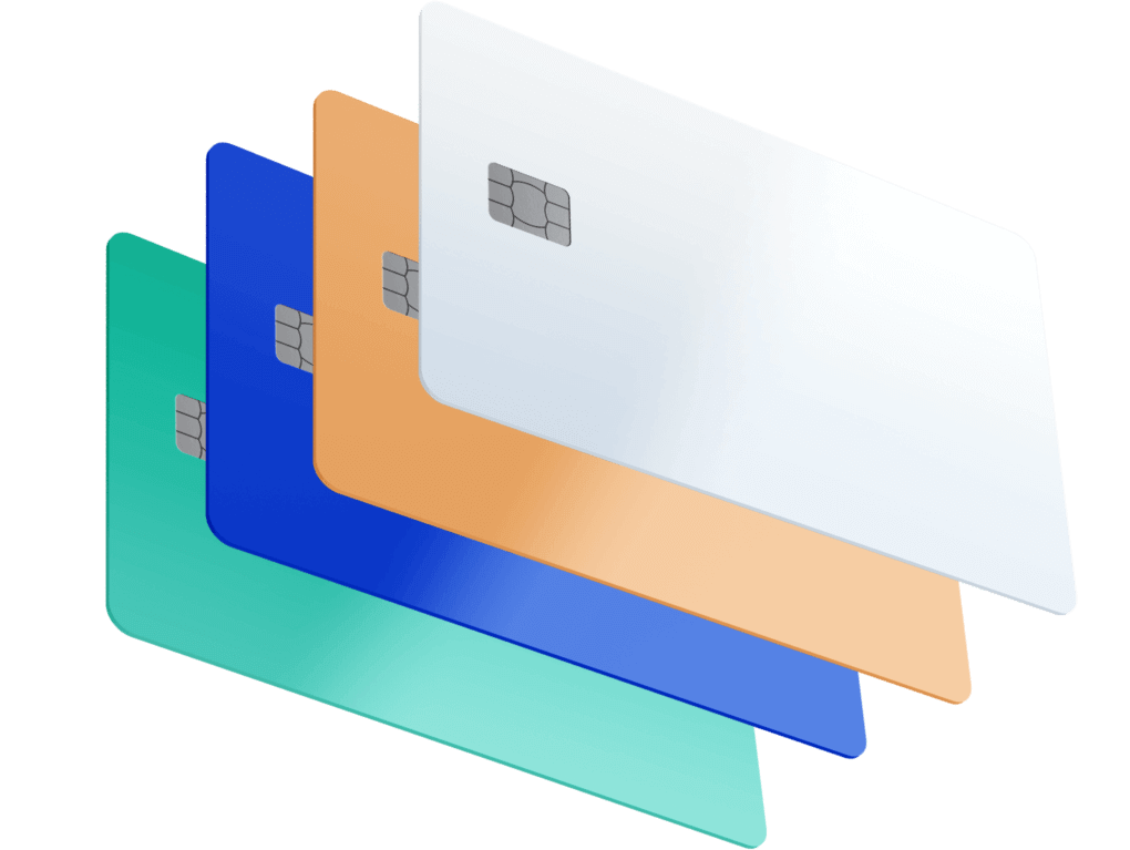 Various debit cards for co-branded card issuing projects.