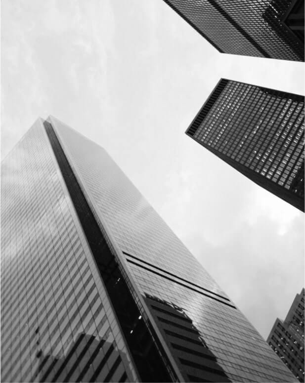 Skyscrapers in black and white background